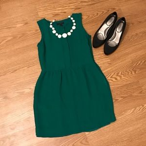 J Crew Emerald Dress with pockets 00